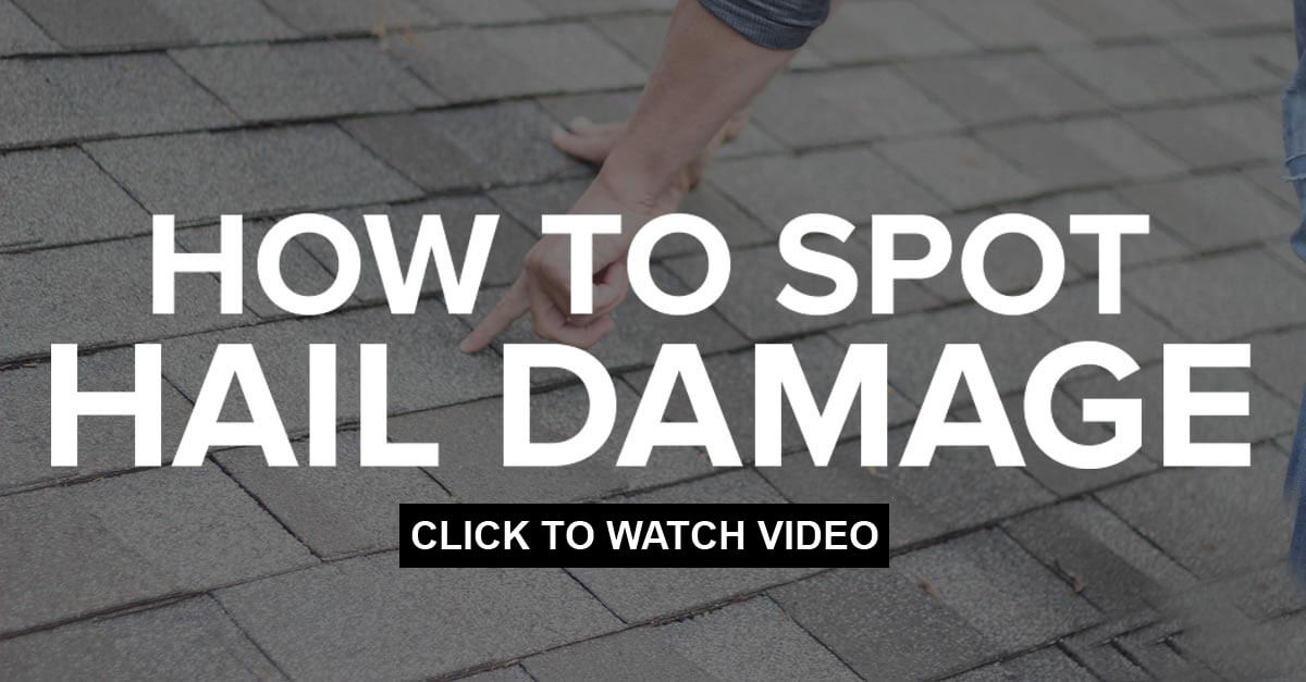How to spot hail damage